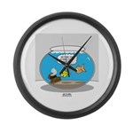 Fishbowl Assets Large Wall Clock