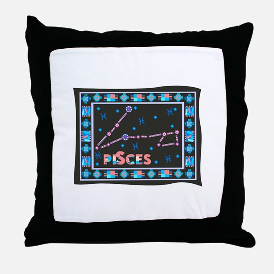 Pisces Constellation Tapestry Design Throw Pillow
