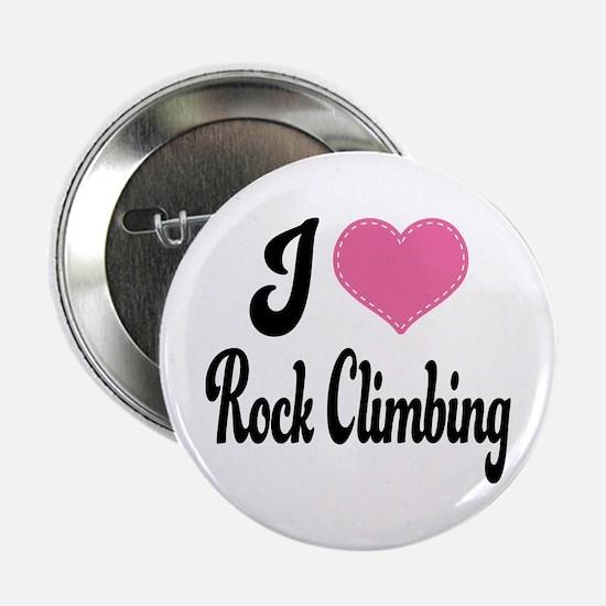 "I Love Rock Climbing 2.25"" Button"