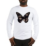 Peach Butterfly Long Sleeve T-Shirt
