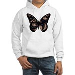Peach Butterfly Hooded Sweatshirt