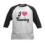 I Love Running Kids Baseball Jersey