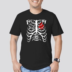 Boosted Heart Men's Fitted T-Shirt (dark)