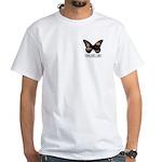 Peach Butterfly Logo White T-Shirt