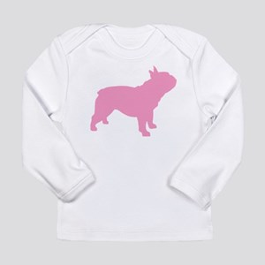 Pink French Bulldog Long Sleeve T-Shirt