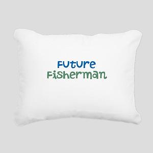Future Fisherman Rectangular Canvas Pillow