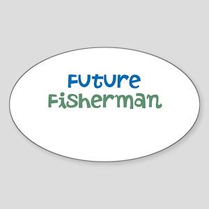 Future Fisherman Sticker (Oval)