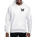 Peach Butterfly Logo Hooded Sweatshirt