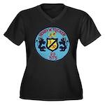 USS HENRY W. Women's Plus Size V-Neck Dark T-Shirt
