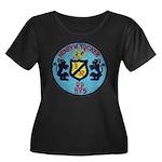 USS HENR Women's Plus Size Scoop Neck Dark T-Shirt