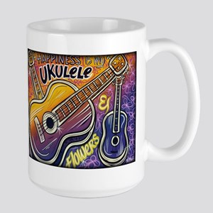 Happiness is My Ukulele Large Mug
