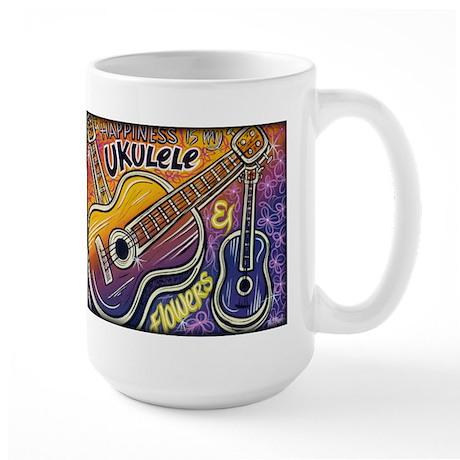 Happiness is My Ukulele Large Mug