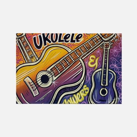 Happiness is My Ukulele Rectangle Magnet
