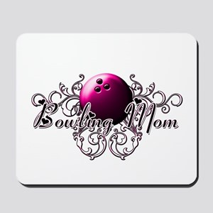 Bowling Mom (pink ball) Mousepad