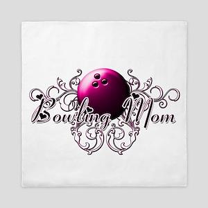 Bowling Mom (pink ball) Queen Duvet