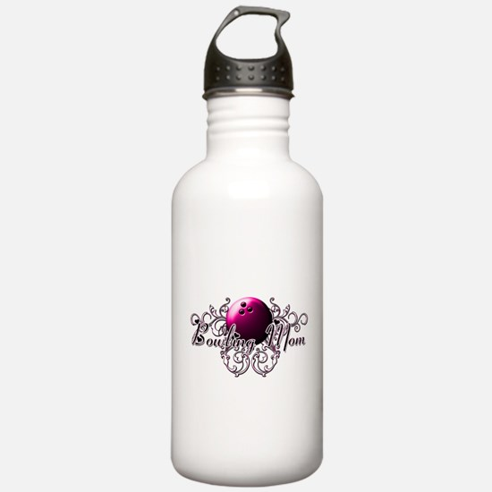 Bowling Mom (pink ball).png Water Bottle