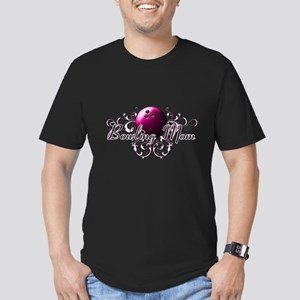 Bowling Mom (pink ball) Men's Fitted T-Shirt (