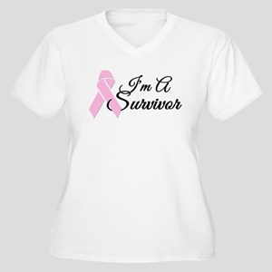 Im a Survivor Women's Plus Size V-Neck T-Shirt
