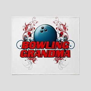 Bowling Grandma (cross) Throw Blanket