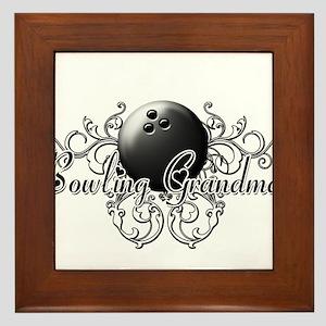 Bowling Grandma (ball) Framed Tile