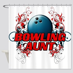 Bowling Aunt (cross) Shower Curtain