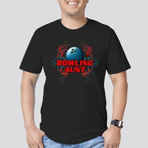 Bowling Aunt (cross) Men's Fitted T-Shirt (dar