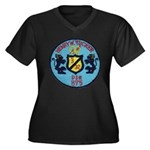 USS HENRY W. Women's Plus Size V-Neck Dark T-Shirt