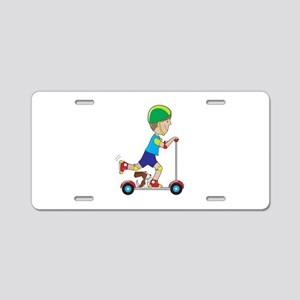Scooter Boy Aluminum License Plate