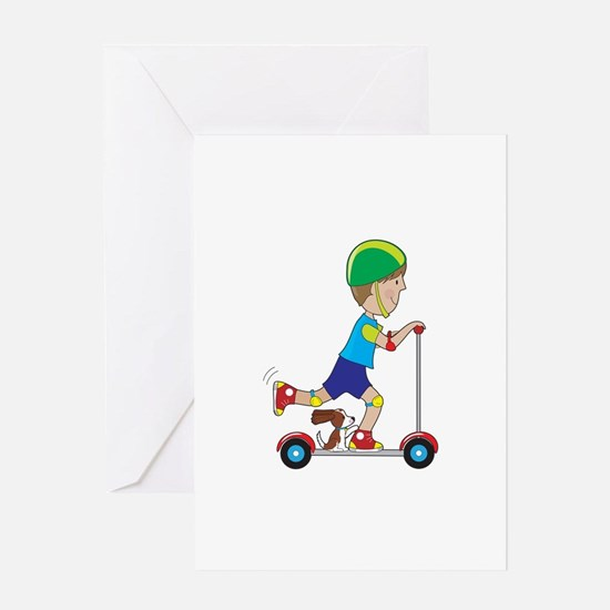 Scooter Boy Greeting Card