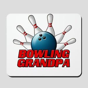 Bowling Grandpa (pins) Mousepad