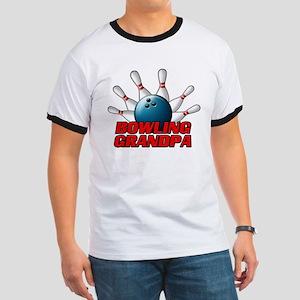 Bowling Grandpa (pins) Ringer T