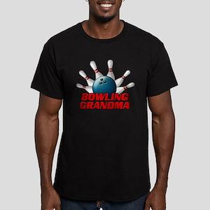 Bowling Grandma (pins) Men's Fitted T-Shirt (d