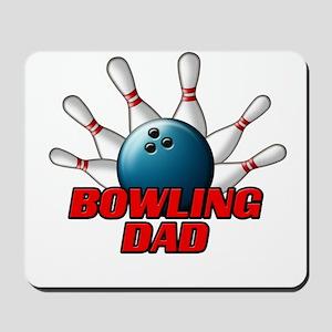 Bowling Dad (pins) Mousepad