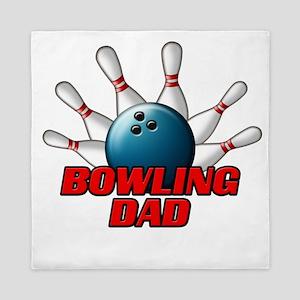 Bowling Dad (pins) Queen Duvet