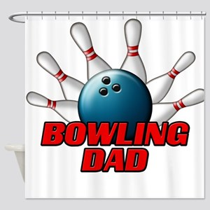 Bowling Dad (pins) Shower Curtain
