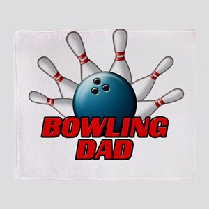 Bowling Dad (pins) Throw Blanket