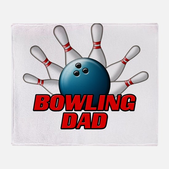 Bowling Dad (pins).png Throw Blanket