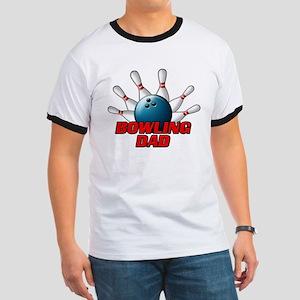Bowling Dad (pins) Ringer T