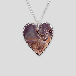 Wildlife Deer Buck Necklace Heart Charm