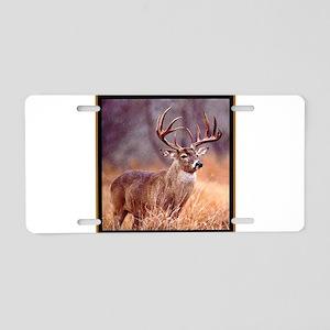 Wildlife Deer Buck Aluminum License Plate