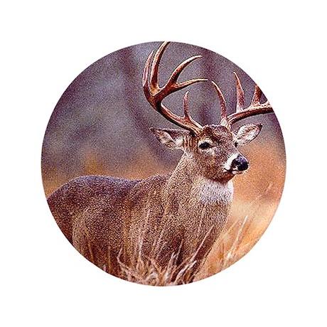 "Wildlife Deer Buck 3.5"" Button (100 pack)"