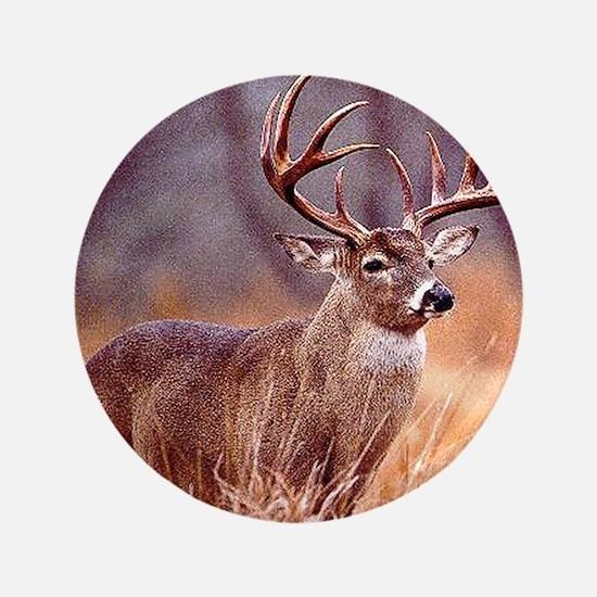 "Wildlife Deer Buck 3.5"" Button"