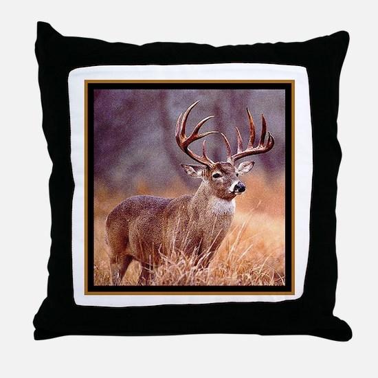 Wildlife Deer Buck Throw Pillow