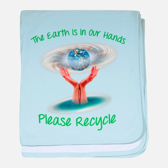 The earth is in our hands baby blanket