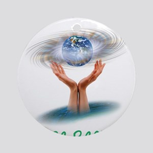 The earth is in our hands Ornament (Round)