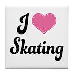 I Love Skating Tile Coaster