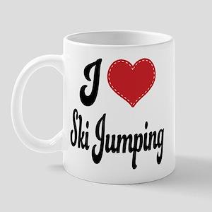 I Love Ski Jumping Mug