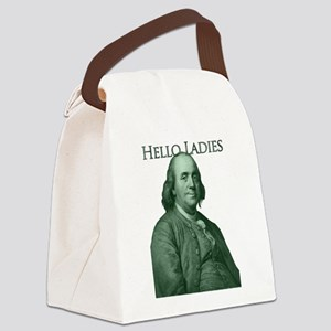 Ben Franklin - Hello Ladies Canvas Lunch Bag