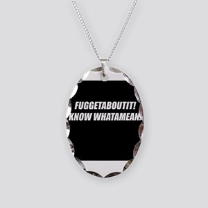 FuggetAboutIt! Necklace Oval Charm