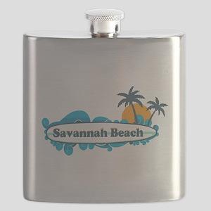 Savannah Beach GA - Surf Design. Flask